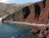 Santorini - červená pláž