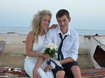 Novomanželé Martina a Petr